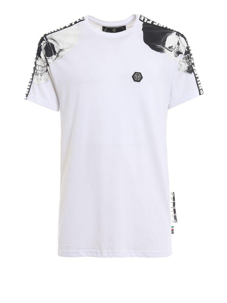 Philipp Plein Contrast Sleeve T-shirt - White