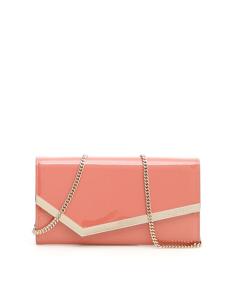 Jimmy Choo Patent Emmie Clutch - ROSEWOOD (Pink)