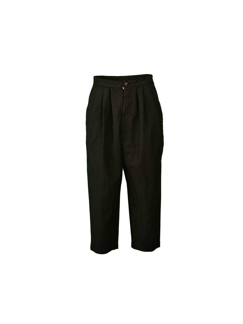 Comme des Garçons Comme des Garçons Comme Des Garçons Classic Cropped Trousers - Black