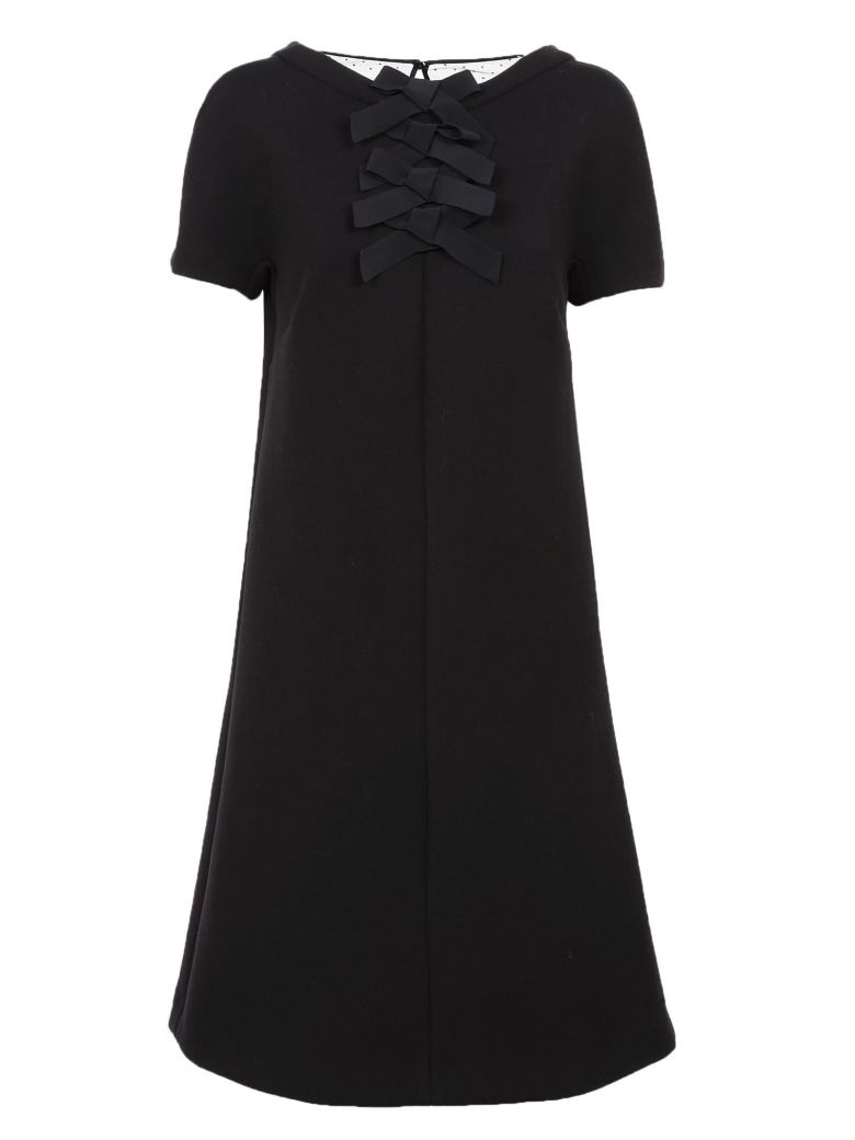 Rochas Ribbon Dress - Black