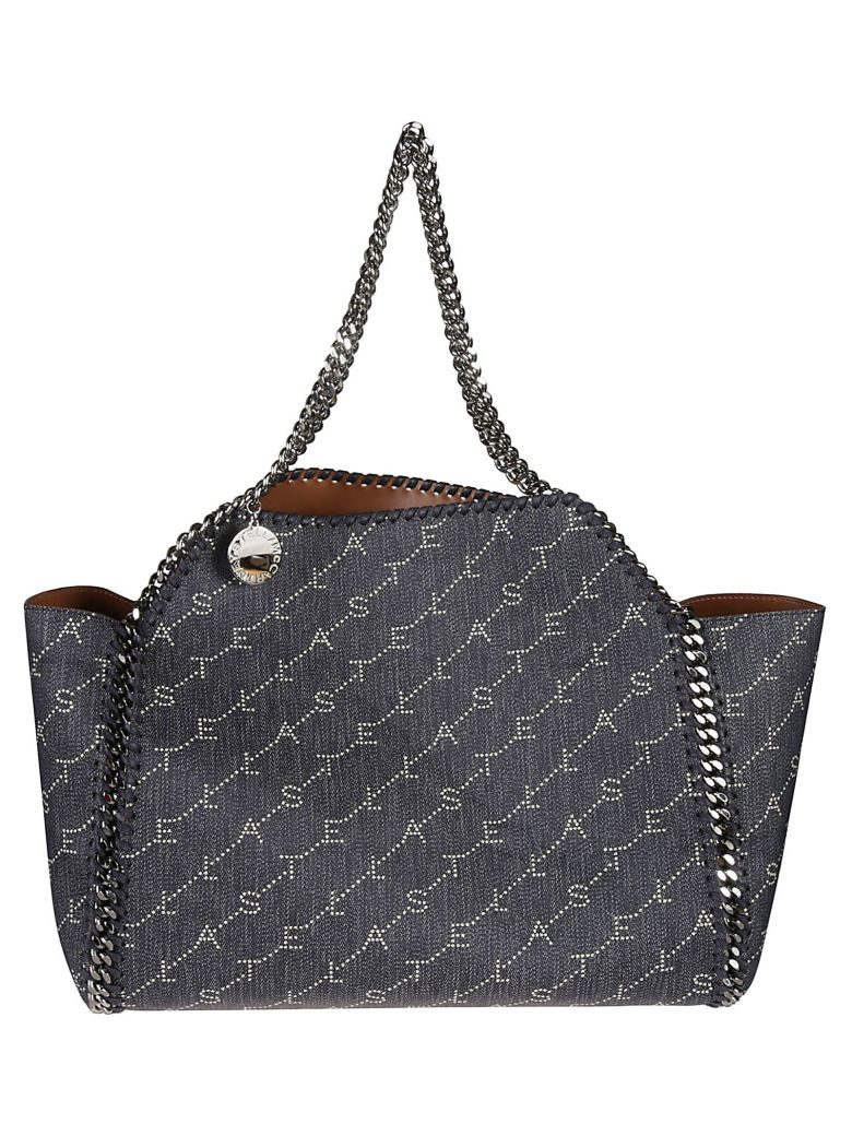 Stella McCartney Logo Detail Tote - navy