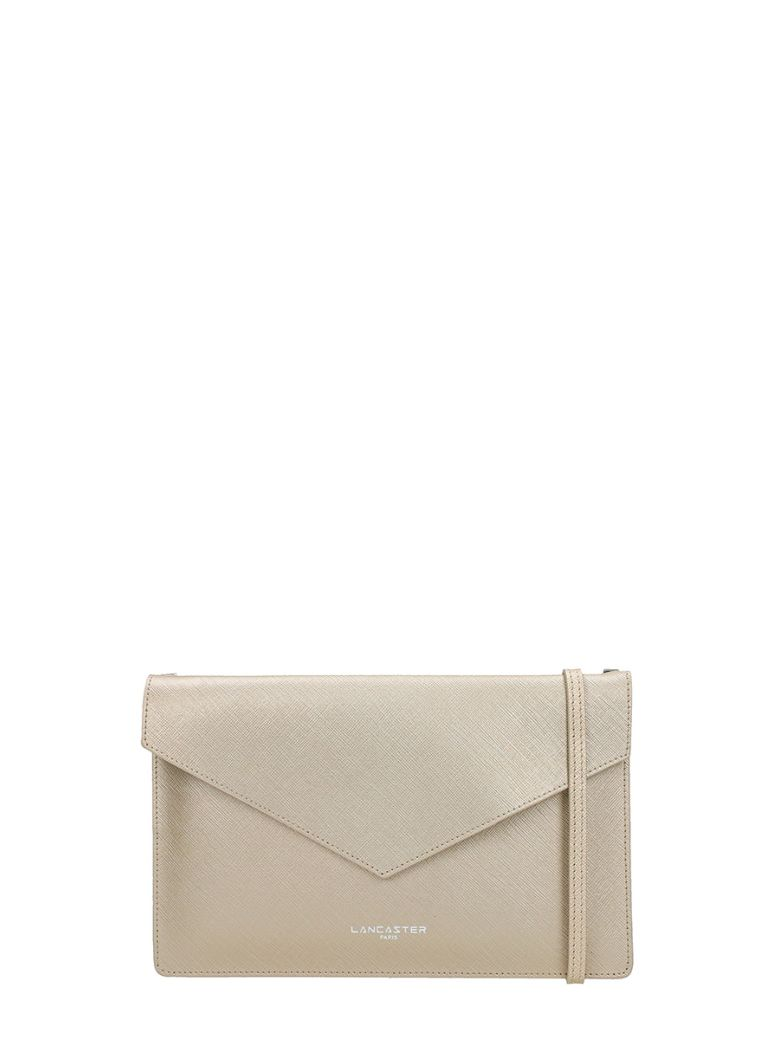 Lancaster Paris Element Champagne Saffiano Leather Pochette - beige
