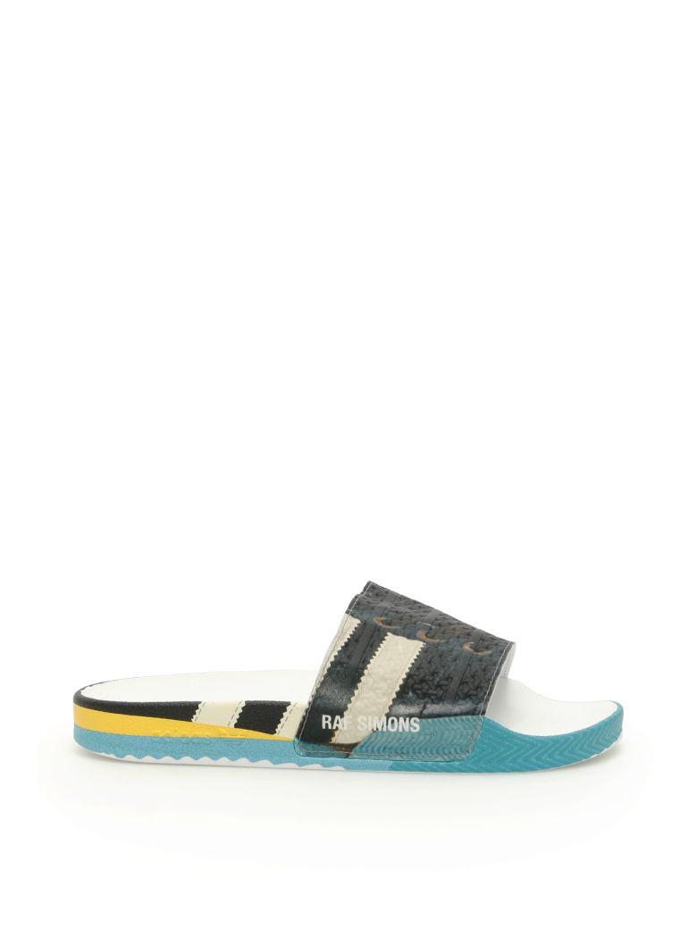 Adidas By Raf Simons Rs Samba Adilette Slides - CBLACK FTWWHT BRBLUE (Blue)