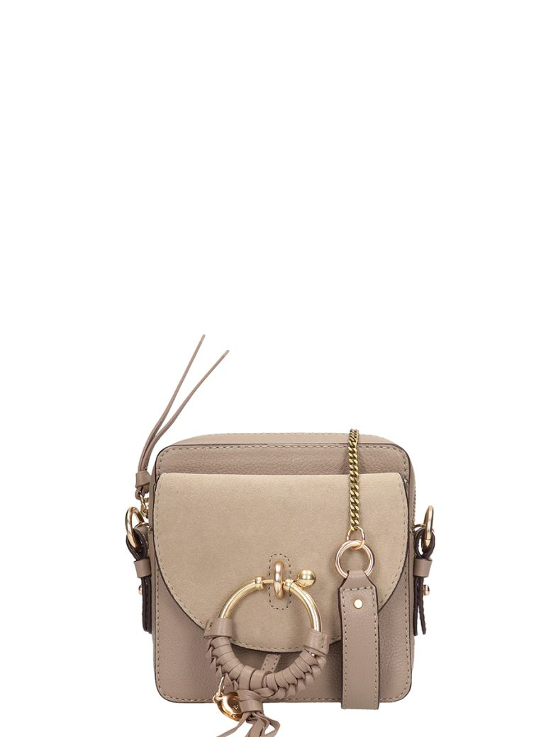 See by Chloé Grey Leather Joan Mini Bag In Suede - grey