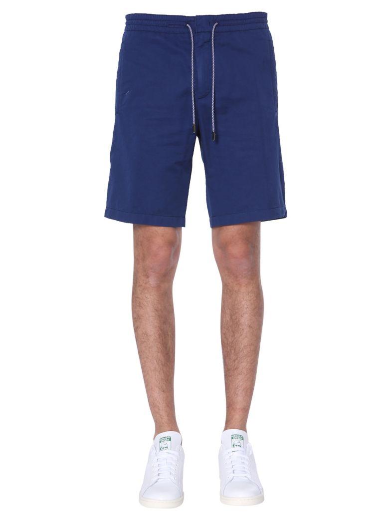 Z Zegna Mixed Cotton And Linen Shorts - BLU