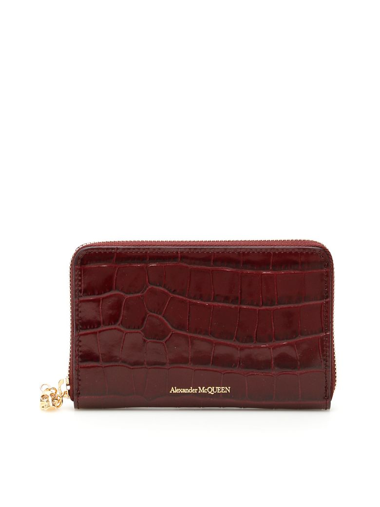 Alexander McQueen Skull Zip-around Wallet - VELVET RED (Red)