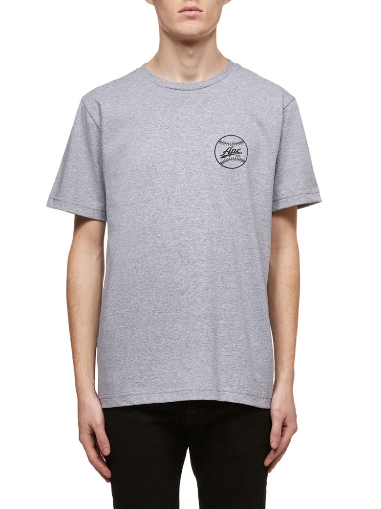 A.P.C. Baseball Logo T-shirt - Gray