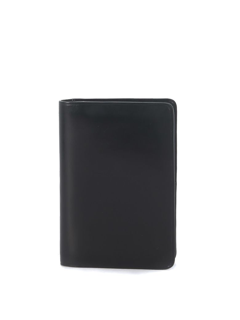 Il Bussetto Black Leather Document Holder - Black