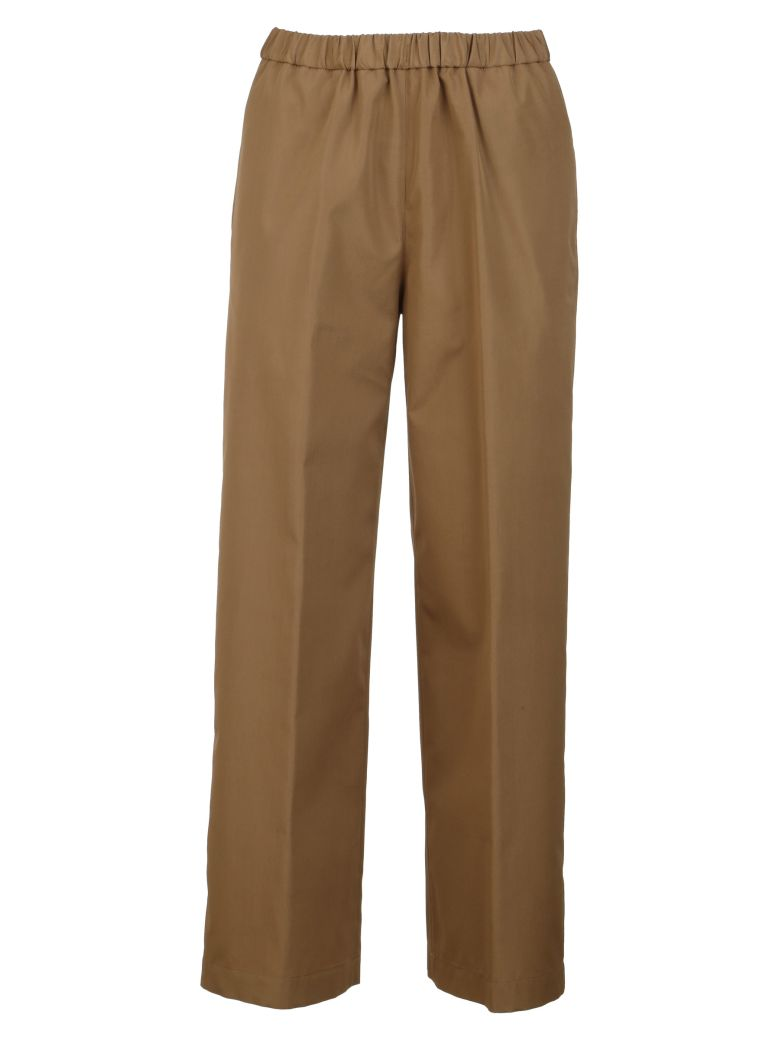 Aspesi Wide Leg Trousers - Brown