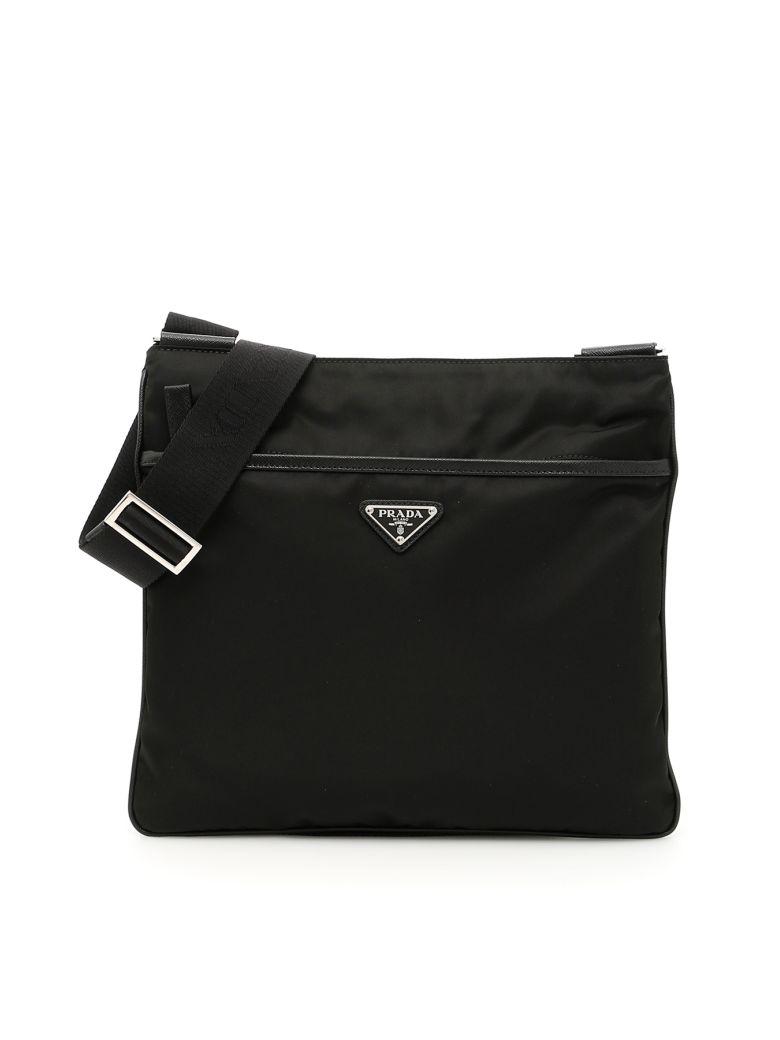 Prada Twill And Saffiano Travel Bag - NERO (Black)