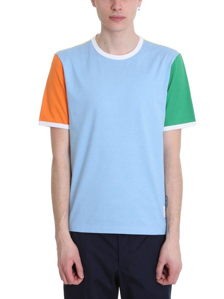 Thom Browne Ringer Tee Multicolor Cotton T-shirt - Multicolor