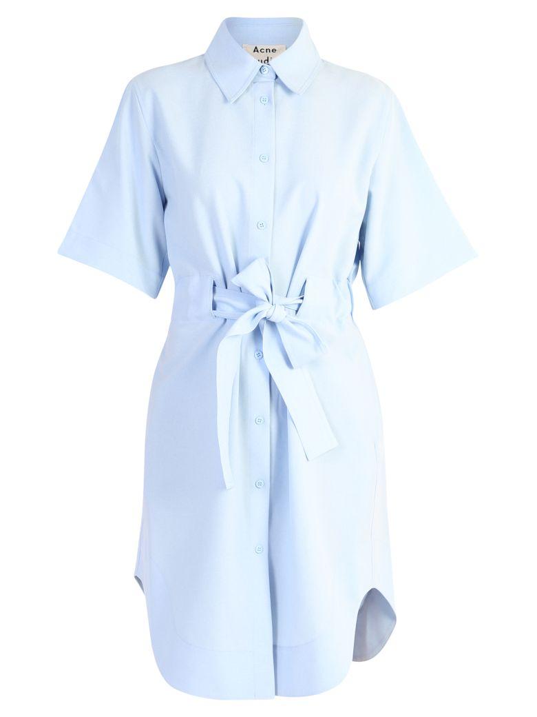 Acne Studios Belted Dress - Blue