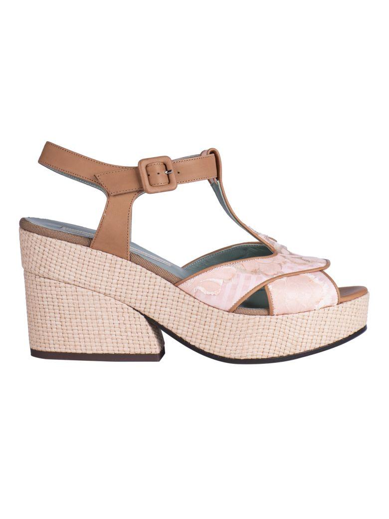 Paola D'Arcano T-bar Platform Sandals - Pink