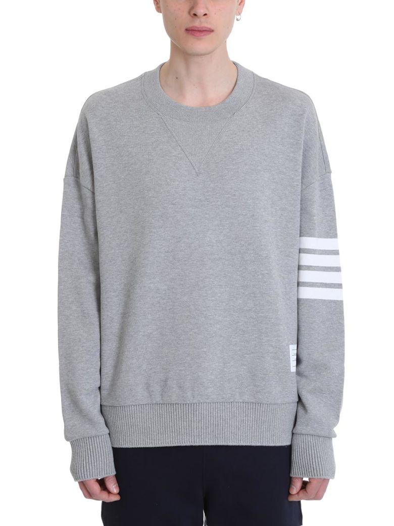 Thom Browne Oversized Grey Cotton Sweatshirt - Gray
