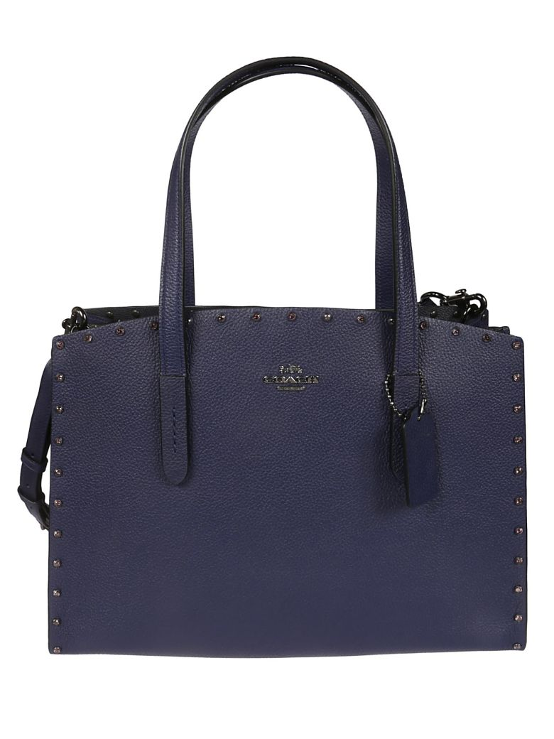 Coach Crystal Rivet Charlie Tote - Blue