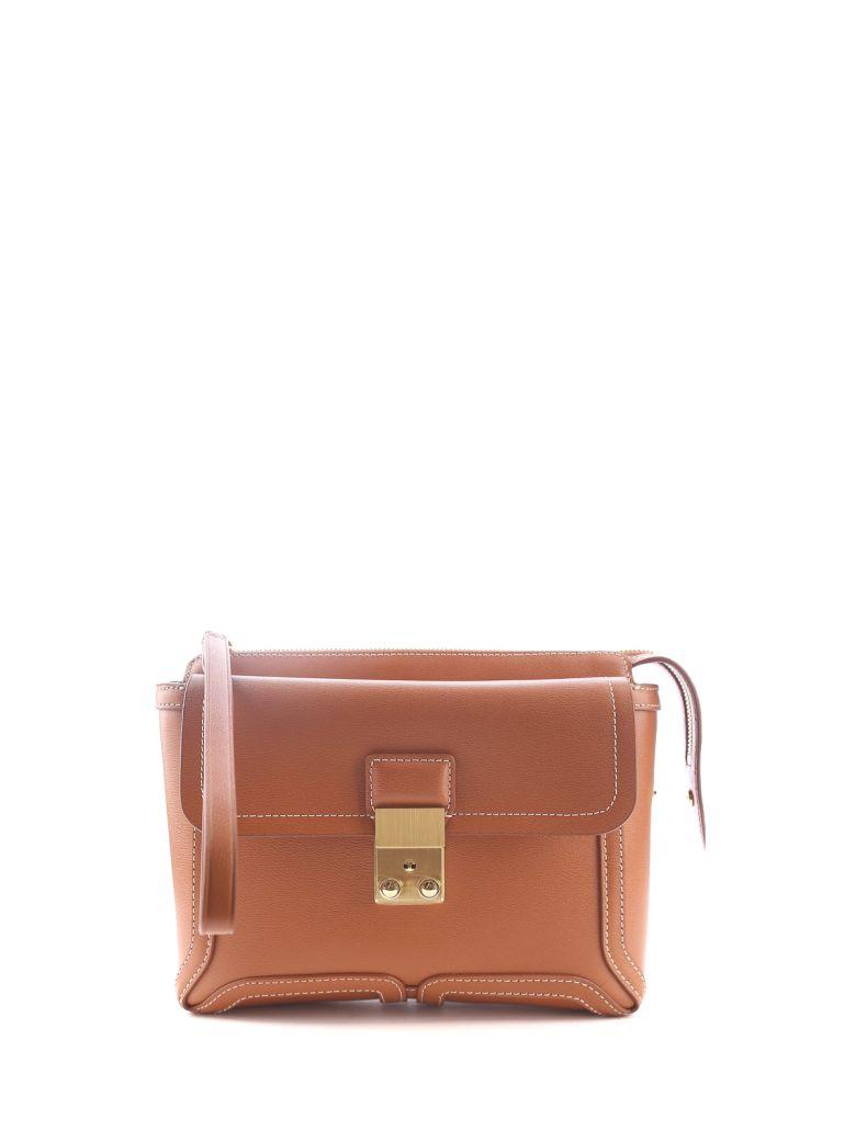 3.1 Phillip Lim Pashli Leather Clutch - Cuoio