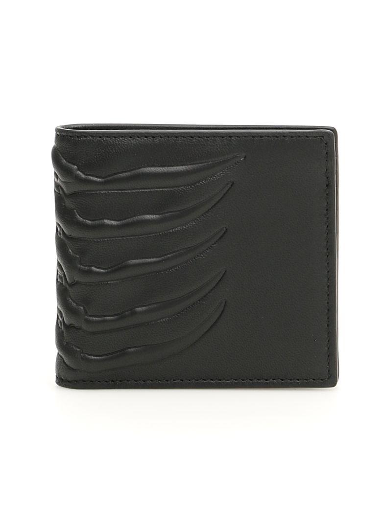 Alexander McQueen Ribcage Wallet - BLACK (Black)