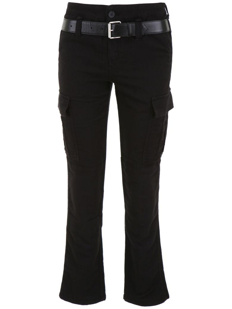 RTA Belted Cargo Trousers - JET BLACK (Black)