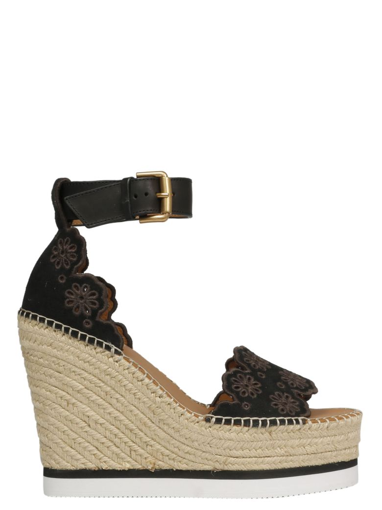 See by Chloé Wedge Espadrillas - Nero