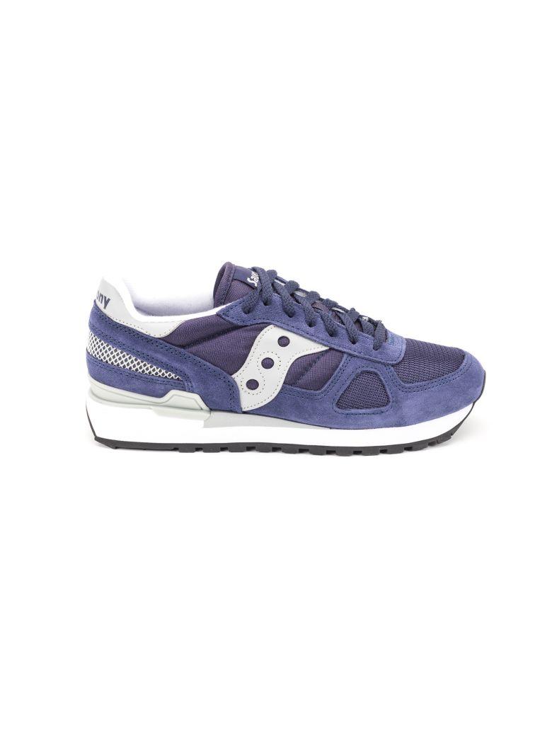 Saucony Saucony Shadow Original Suede Sneakers - Navy - grey