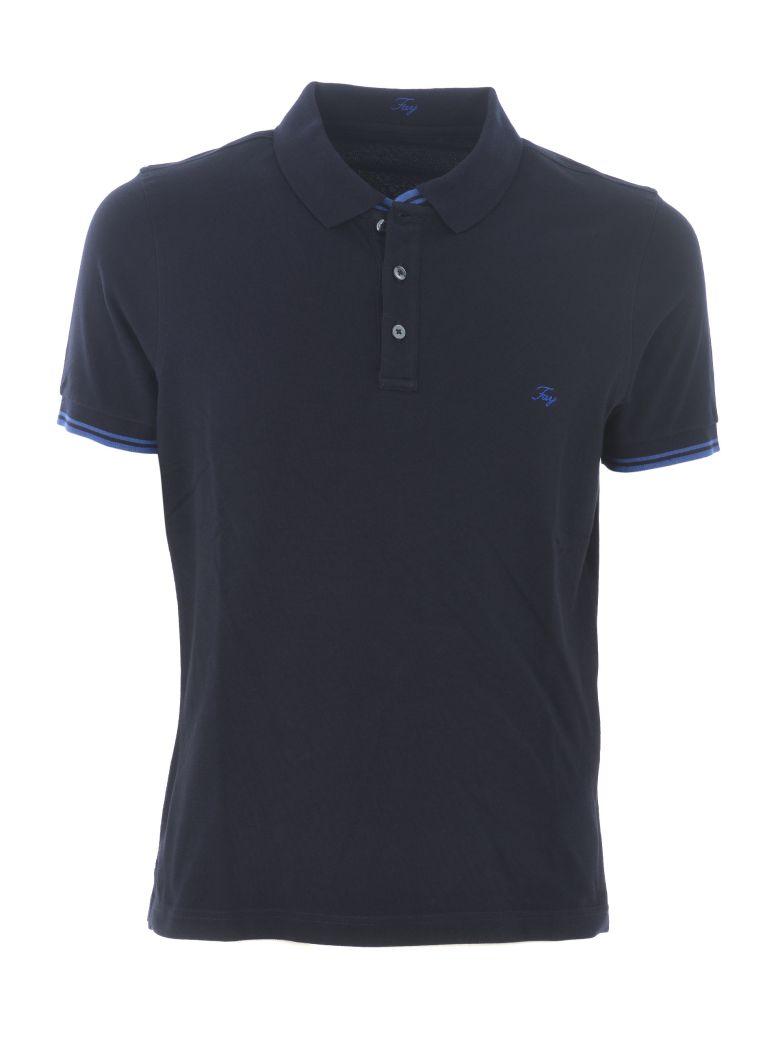 Fay Logo Polo Shirt - Blu scuro