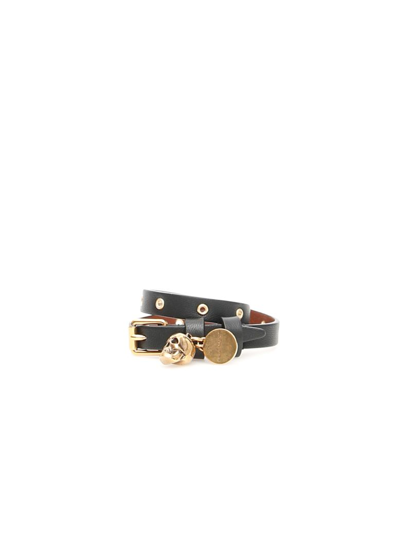 Alexander McQueen Thin Skull Bracelet - BLACK|Nero