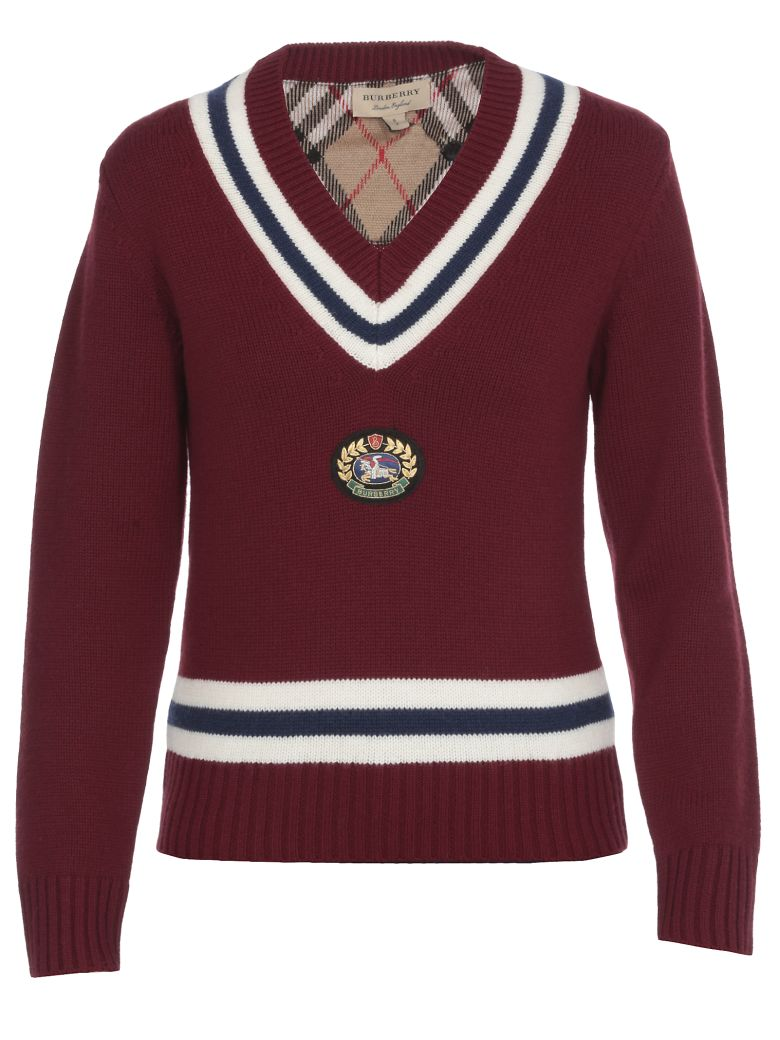 Burberry Wool Sweater - BURGUNDY