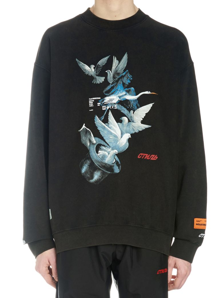 HERON PRESTON 'ves' Sweatshirt - Black