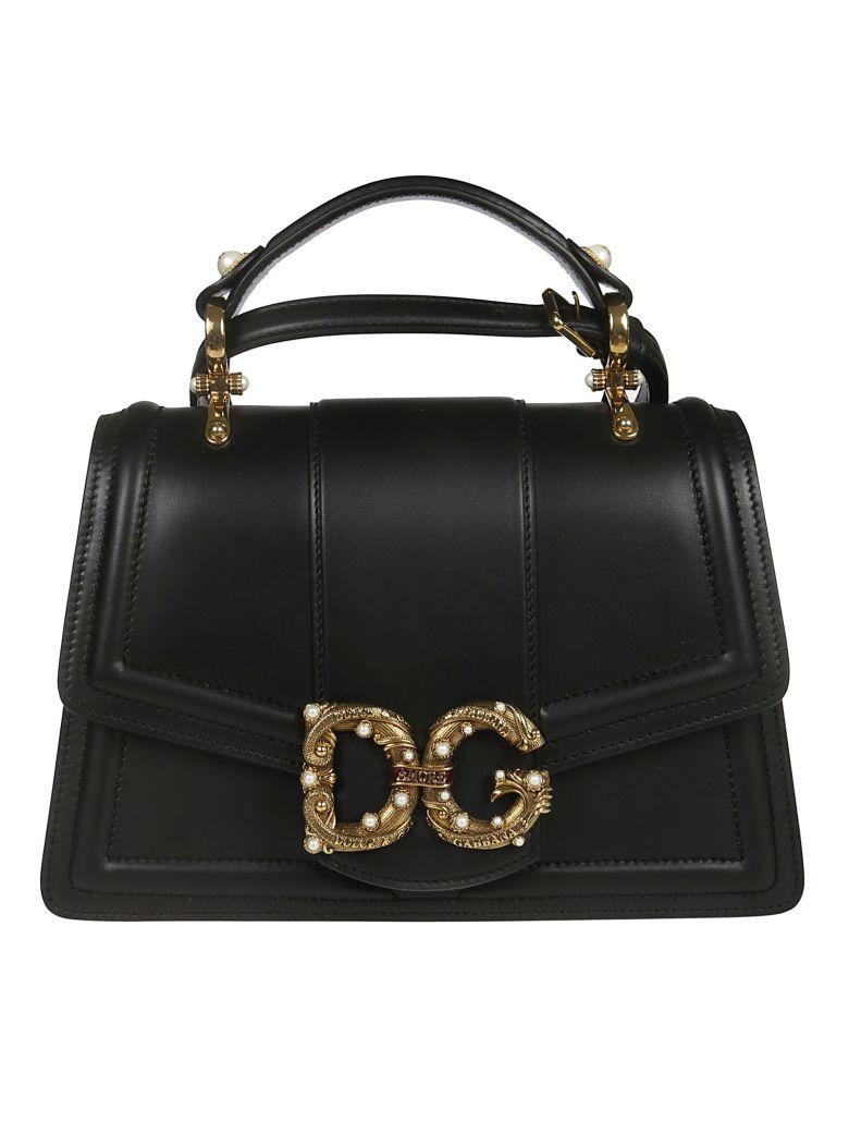 Dolce & Gabbana Logo Embellished Tote - Black