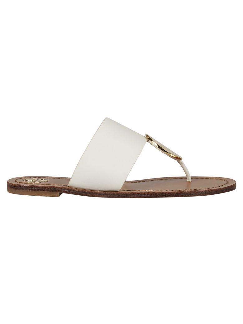 Tory Burch Patos Disc Flat Sandals - White