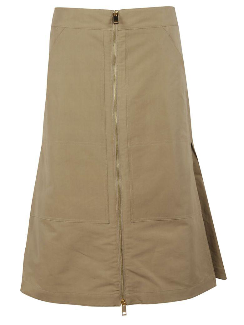 Burberry Flared Skirt - beige