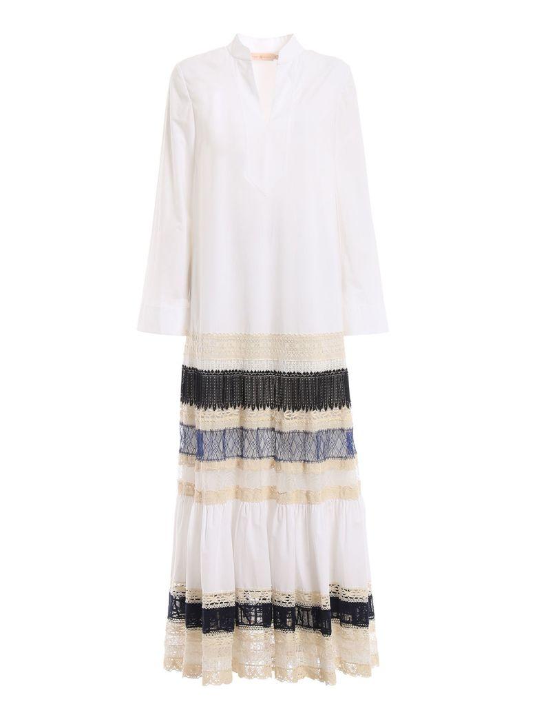 Tory Burch Lace-trim Dress - White