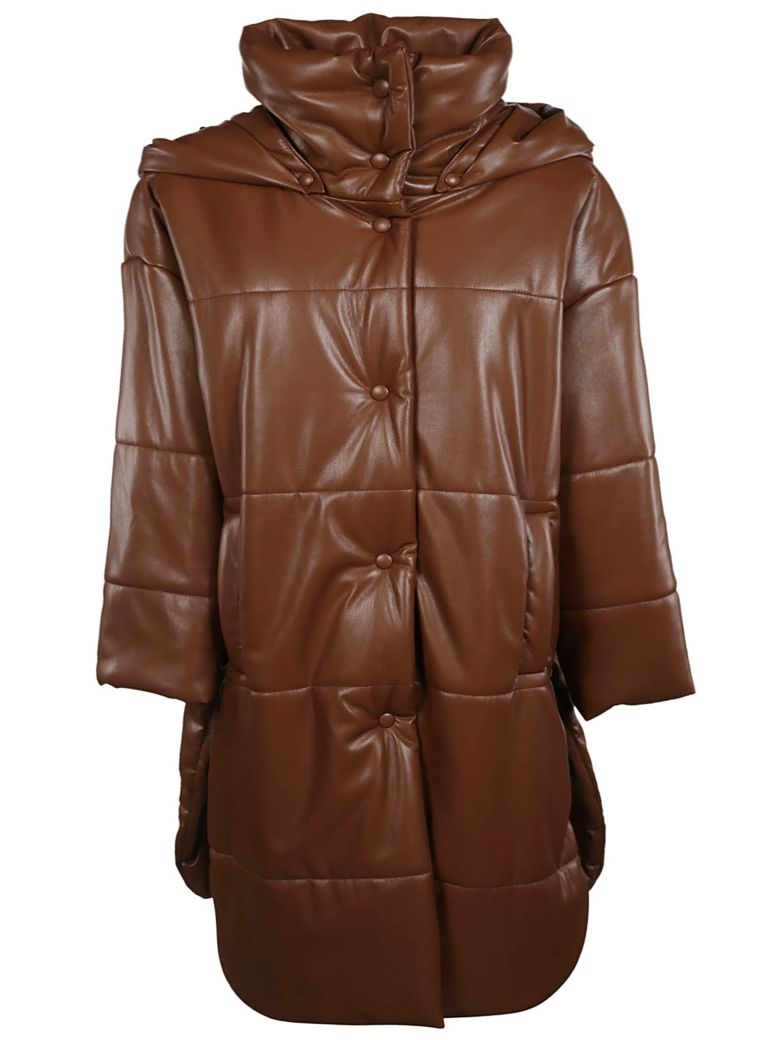 Nanushka Eska Padded Coat - Root Beer
