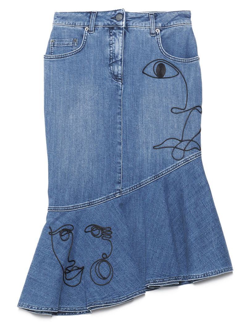 Moschino 'picasso' Skirt - Blue