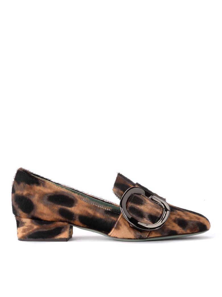 Paola D'Arcano Cow Hair Effect Leather Loafer - Multicolor