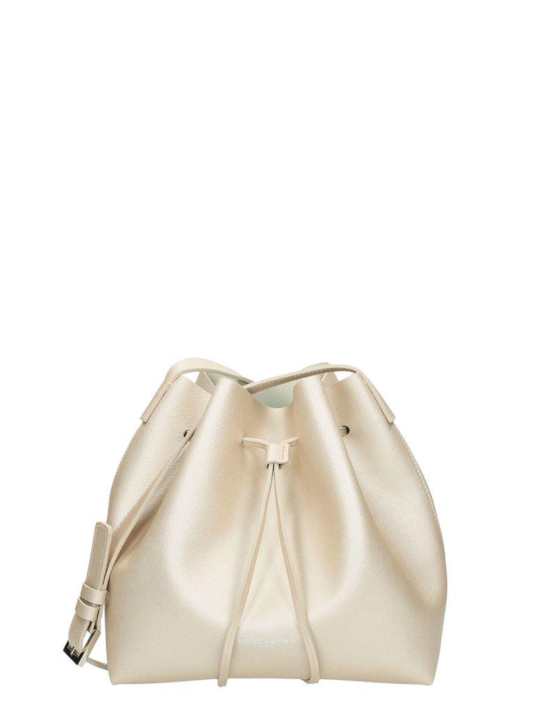 Lancaster Paris Saffiano Small Bucket Bag Champagne Leather - beige