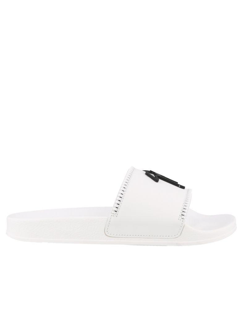 Giuseppe Zanotti Slide Sandals - White