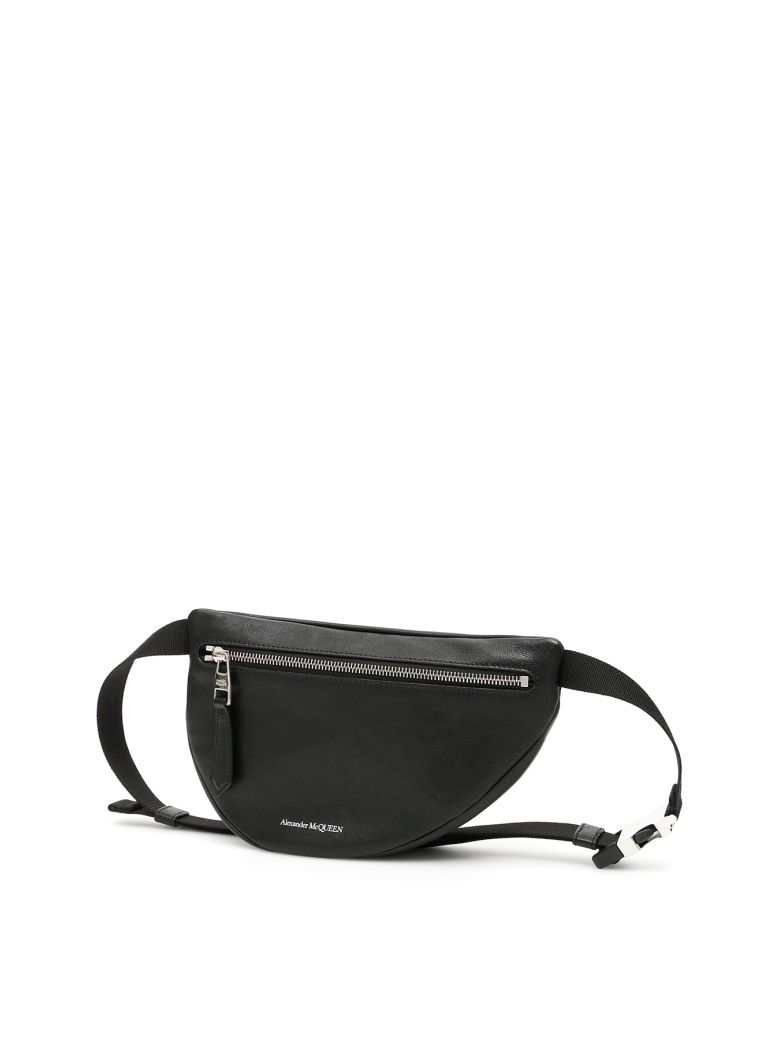Alexander McQueen Asymmetric Beltbag - BLACK Nero