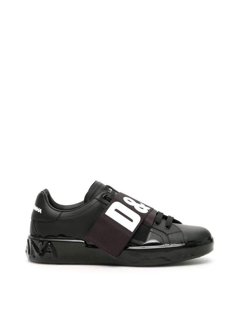 Dolce & Gabbana D&g Portofino Melt Sneakers - NERO BIANCO (Black)