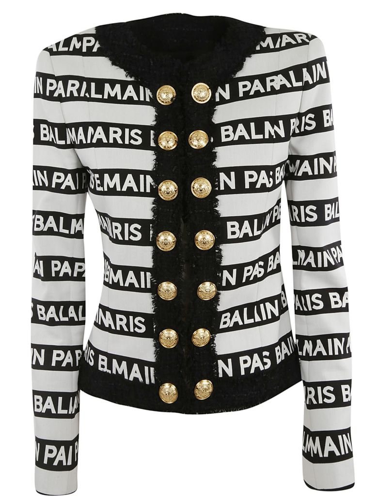Balmain Stripe Print Jacket - MULTICOLOR