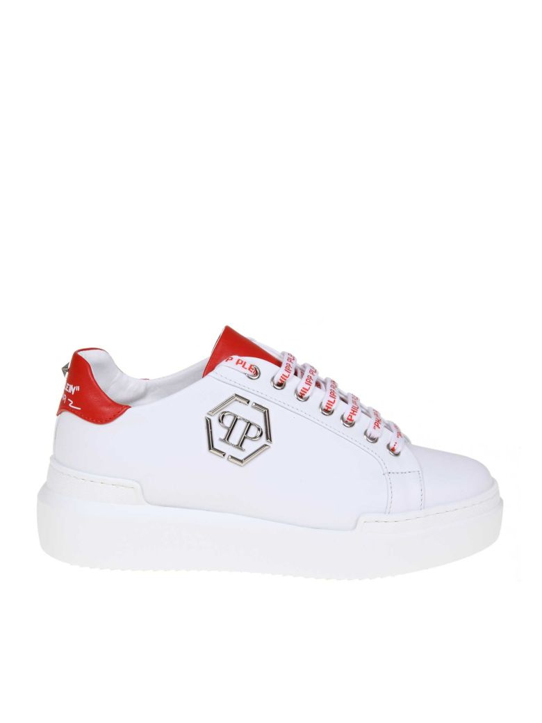 Philipp Plein Sneakers Lo-top Sneakers In White Leather - White