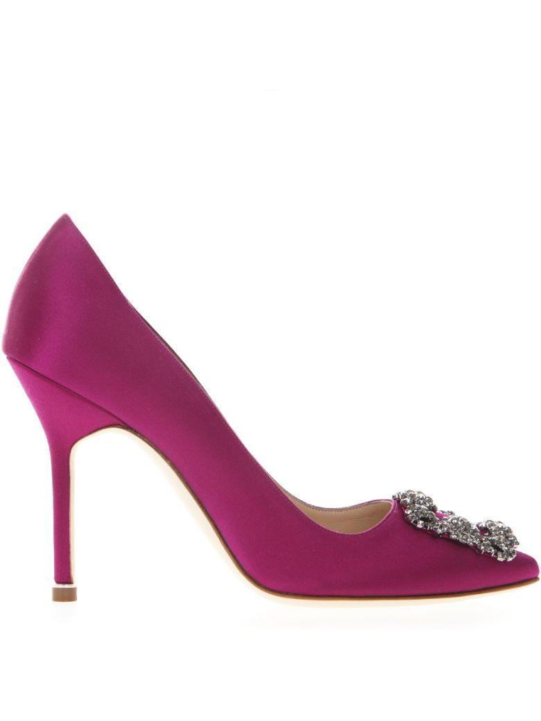 Manolo Blahnik Hangisi Pink Satin Pumps - Pink