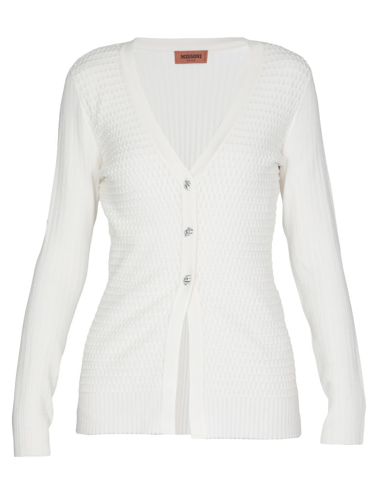 Missoni Knitted Cardigan - White