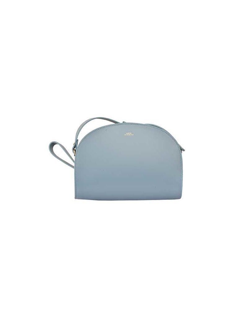 A.P.C. Demi Lune Shoulder Bag - Iaa Bleu