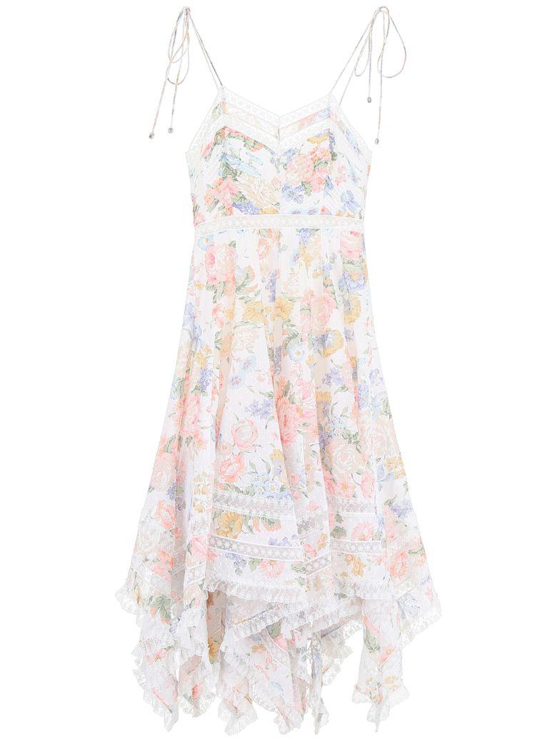 Zimmermann Bowie Dress - CREAM FLORAL (White)