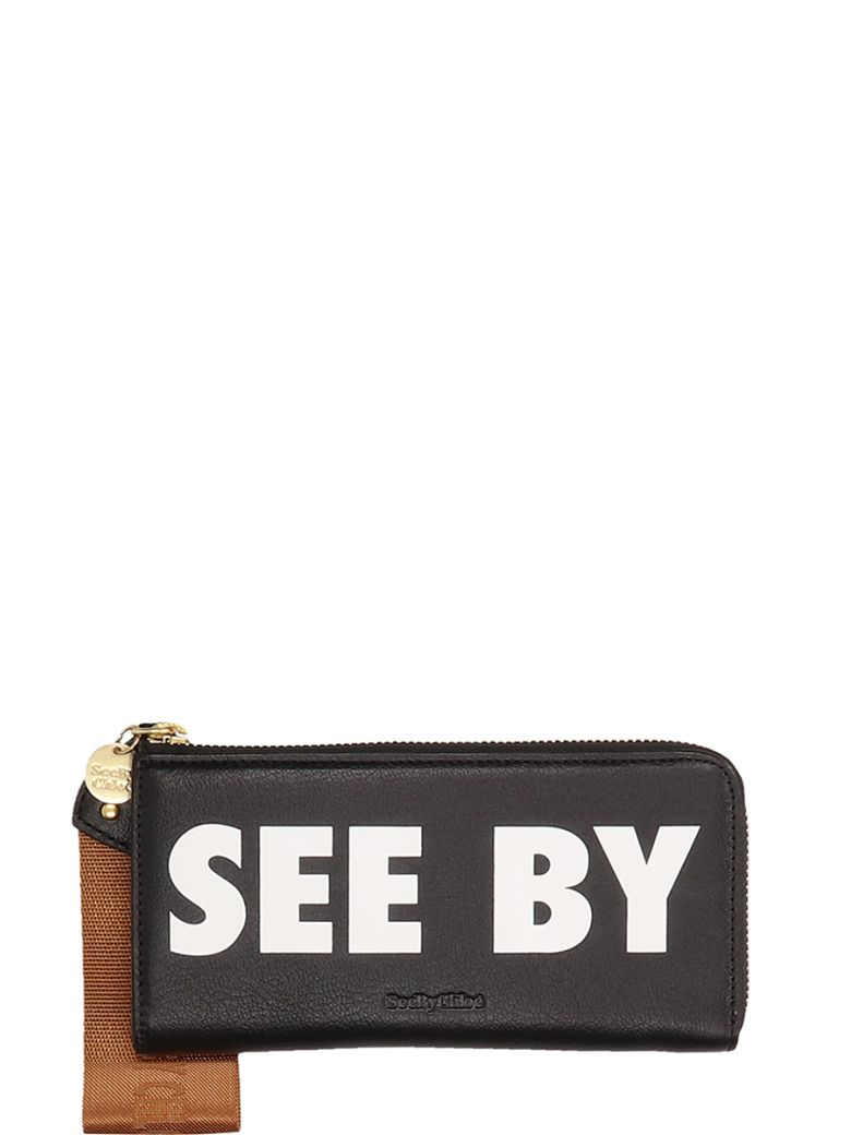 See by Chloé Black Leather Wallet - black