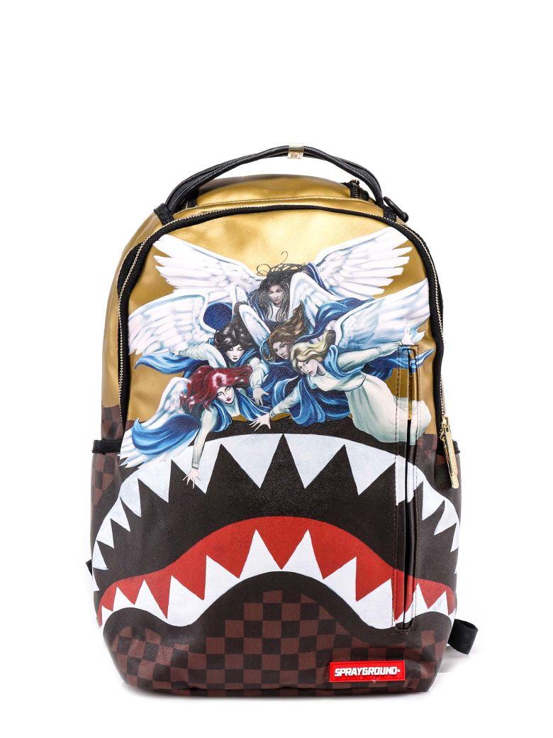 Sprayground Shark In Paris Backpack - Gold