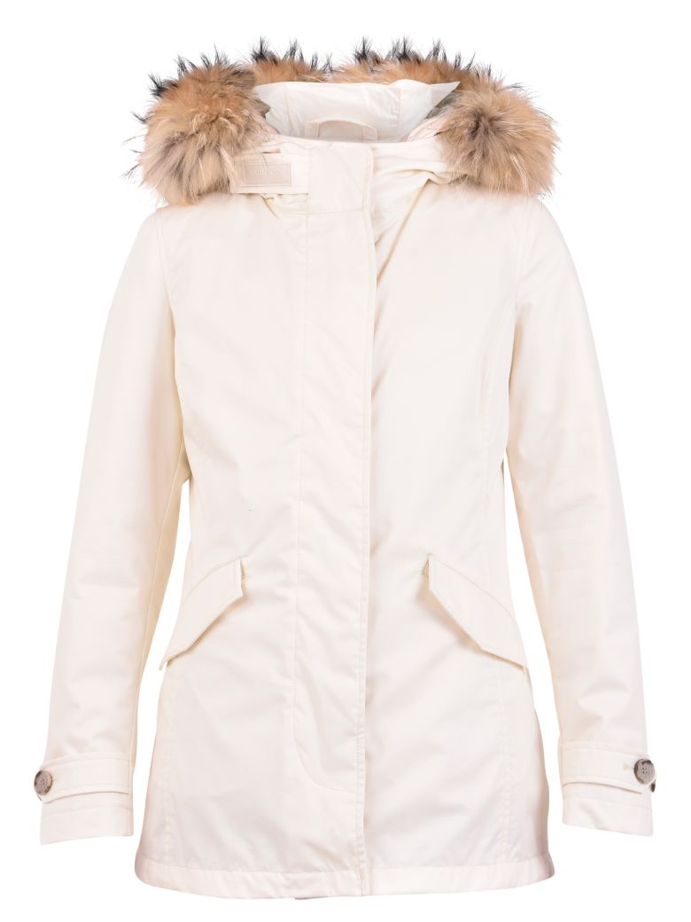 Woolrich Artic Nylon Padded Parka - White