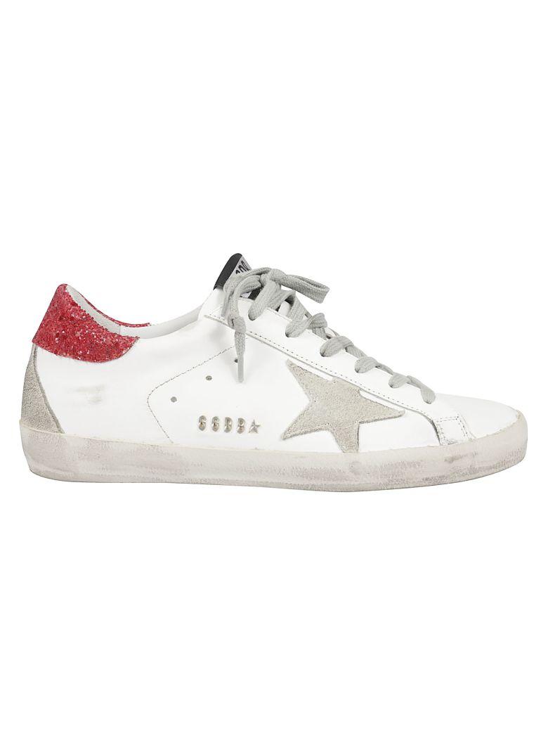 Golden Goose Superstar Sneakers - White Red Glitter