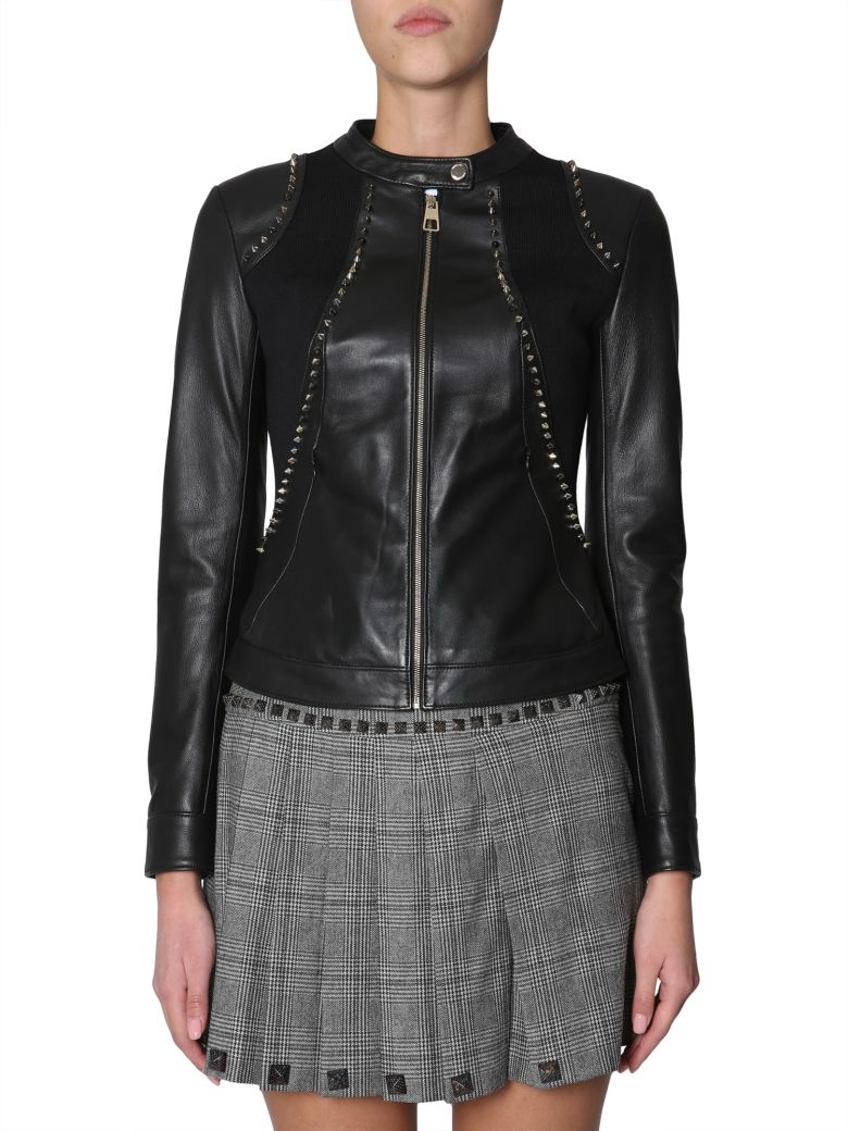 Versace Collection Leather Jacket - NERO